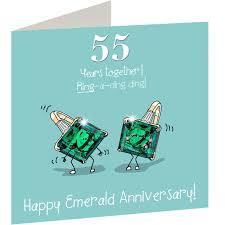 55th wedding anniversary 55th wedding emerald anniversary card