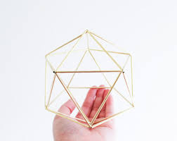 Geometric Hanging Planter by The Planter Hanging Brass Air Plant Holder With Cup Modern