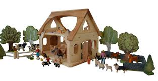 Toy Barns Farm And Stable Play Elves U0026 Angels Heirloom Quality Wooden Toys