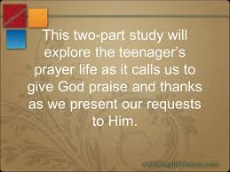 a two part bible study about prayer ppt