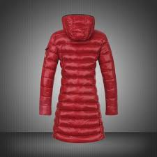 moncler coats down womens smooth shinyfabric red shop original