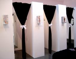 i like this idea for the changing room not boring boutique