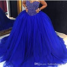 royal blue wedding 2017 new cheap royal blue tulle gown wedding dresses
