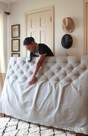 How To Button Upholstery With Deep Button Tufting Use A Hole Saw Attachment To Remove The