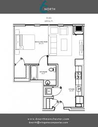 Studio Loft Apartment Floor Plans by Studio 1 U0026 2 Bedroom Floor Plans 6 North Manchester Apartments