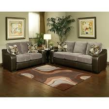 livingroom pc bondedleather sofa loveseat chair and coffeetable two tone black white