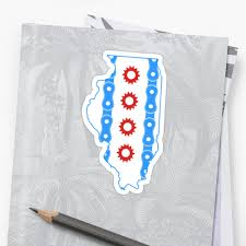 Chicaho Flag Chicago Flag In Illinois State Outline