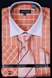 mens white french cuff dress shirt set collar two toned c