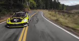 volkswagen beetle race car tanner foust takes mad vw beetle drifting on public road