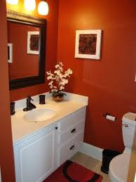 Bathroom Color Scheme by Best 25 Orange Bathrooms Ideas On Pinterest Orange Bathroom