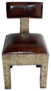 Moroccan Chair Moroccan Metal And Leather Chair Mediterranean Armchairs And