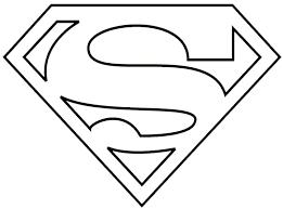superman logo coloring free download