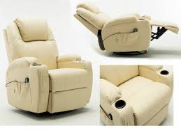 massage recliner leather sofa chair full body heated electric