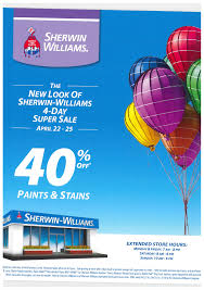 40 off paints and stains at sherwin williams chestnut hill