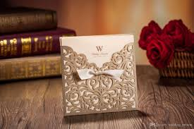 sle wedding invitations laser cut flower wedding invitation cards personalized gold hollow