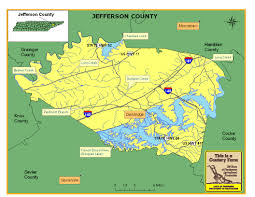 Tennessee Map With Counties by Jefferson County Tennessee Century Farms