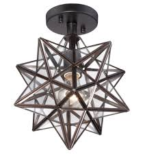 Moravian Star Ceiling Mount by Cuthbert Clear Glass 13