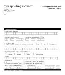 100 reimbursement claim form template damage claim template