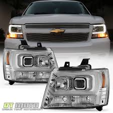 chevrolet suburban 2012 2007 2014 chevy suburban tahoe avalanche led tube drl projector