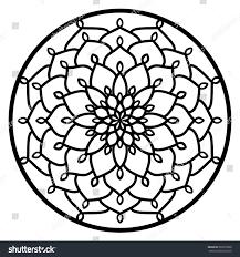 vector stencil lacy round ornament mandala stock vector 603676898