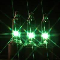 mini lights on black wire