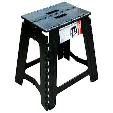 extra tall large folding step stool black plastic strong home