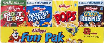 Breakfast Food Cereal Walmart Com by Kellogg U0027s Variety Fun Pack Cereal 8 Ct Walmart Com