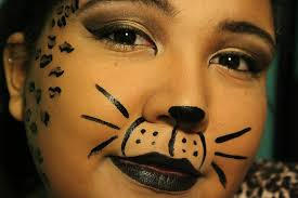 easy face makeup for halloween unique and easy cheetah halloween makeup youtube