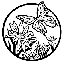 cool butterflies flowers coloring pages special picture