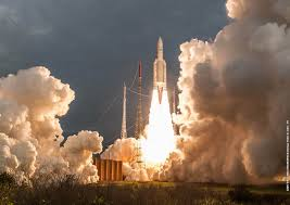 imagery from wednesday u0027s ariane 5 launch in french guiana