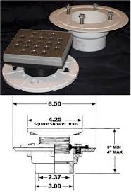 strainer for square shower drain pvc by tiledepot us and plastic