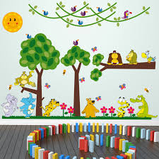 large jungle animals full colour wall stickers for kids large jungle animals full colour wall stickers child playroom