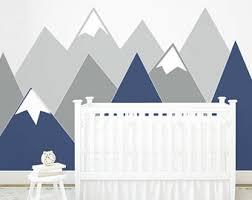Headboard Wall Sticker by Nursery Mountain Crib Wall Art Headboard Wall Decal Wall
