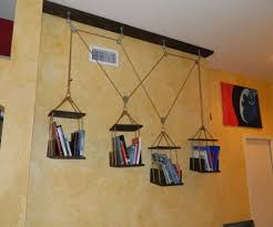 Hanging Bookshelf Captivating Hanging Bookcase Pictures Design Ideas Andrea Outloud