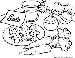 gingerbread cookies for santa christmas coloring free printable