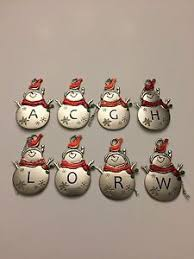 christmas ornaments with initials hallmark ganz christmas snowman ornaments personalized initials