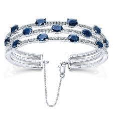 sapphire bracelet images 14k white gold gabriel co diamond and sapphire bangle bracelet jpg