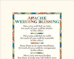 blessings for weddings apache blessing etsy