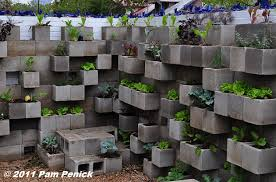 edible wall cinderblock wall vegetable garden wows at big red sun