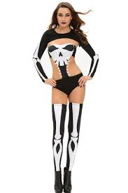Halloween Skeleton Bodysuit Halloween Seductive Skeleton Costume Wholesale