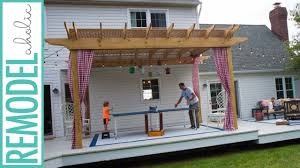 How To Make A Pergola by How To Build A Pergola Youtube