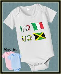 Jamaican Flag Shirt 1 2 Half Italian 1 2 Jamaican Baby Bodysuit Nationality Country