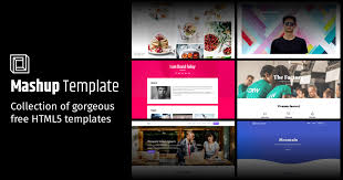collections of free website templates made by mashup template in