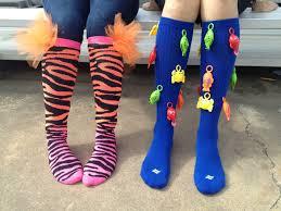 crazy socks day cute zebra print and tulle spirit week