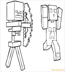 creeper minecraft coloring coloring pages kids