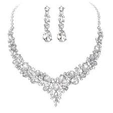 jewelry set youfir bridal austrian necklace and earrings
