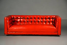 tufted red leather sofa at 1stdibs with regard to red leather sofa