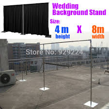 Wedding Backdrop And Stand Aliexpress Com Buy 13ft X 26ft Wedding Backdrop Stand With