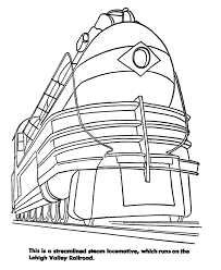 Rail Train Coloring Pages Streamlined Diesel Engine Coloring Rail Color Page