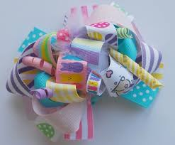 easter hair bows funky easter hair bow clip